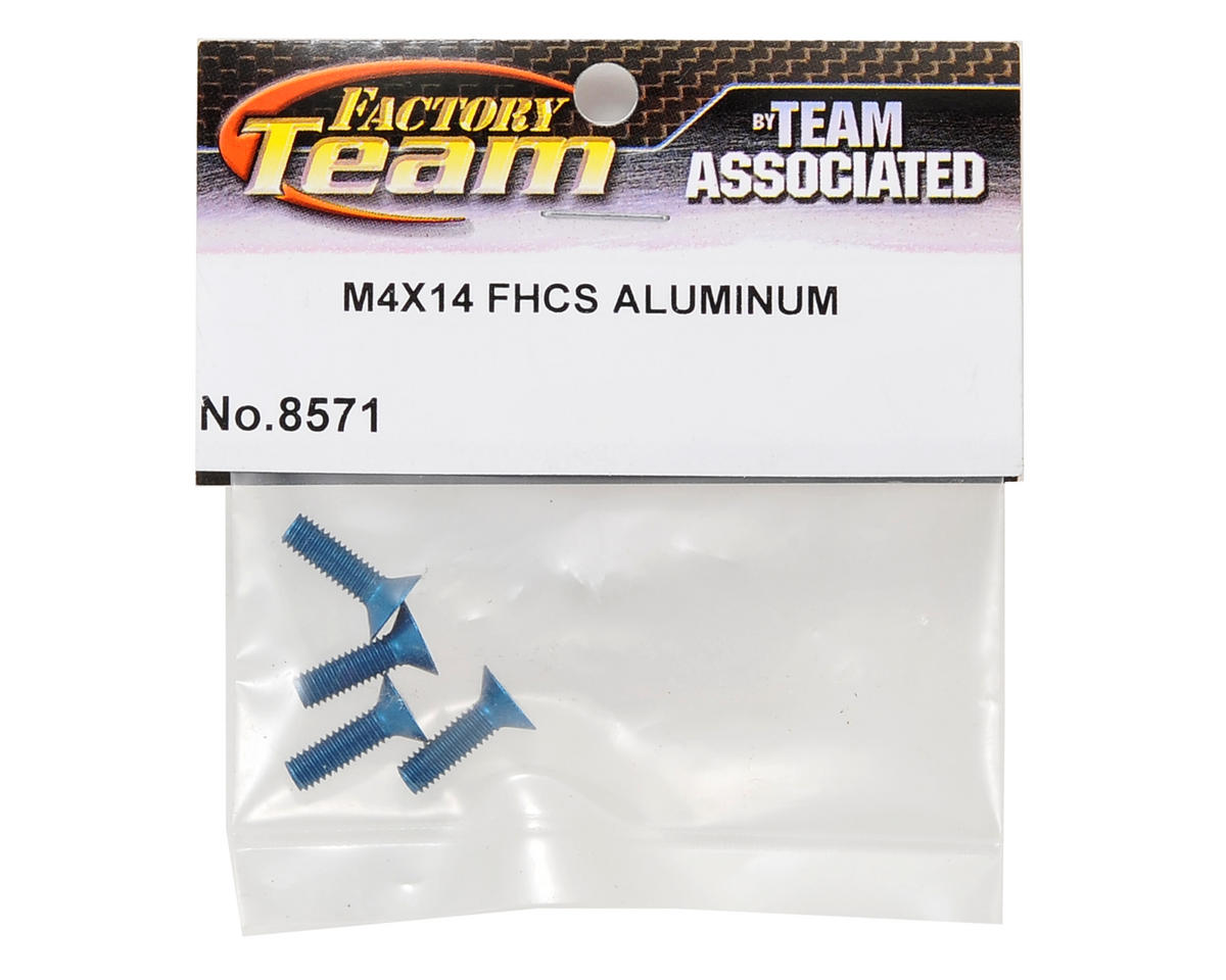 Team Associated Factory Team Aluminum 4x14mm Flat Head Screw (4)