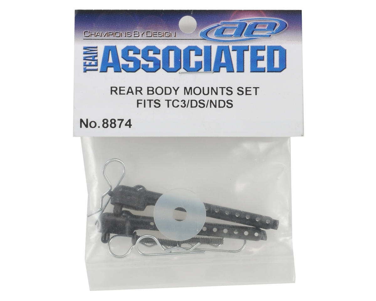 Rear Body Mount Post Set (TC3) by Team Associated