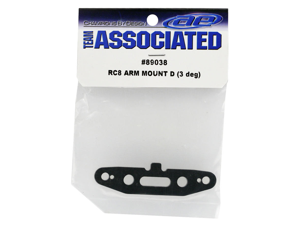Team Associated Arm Mount D, 3 Degree (RC8)
