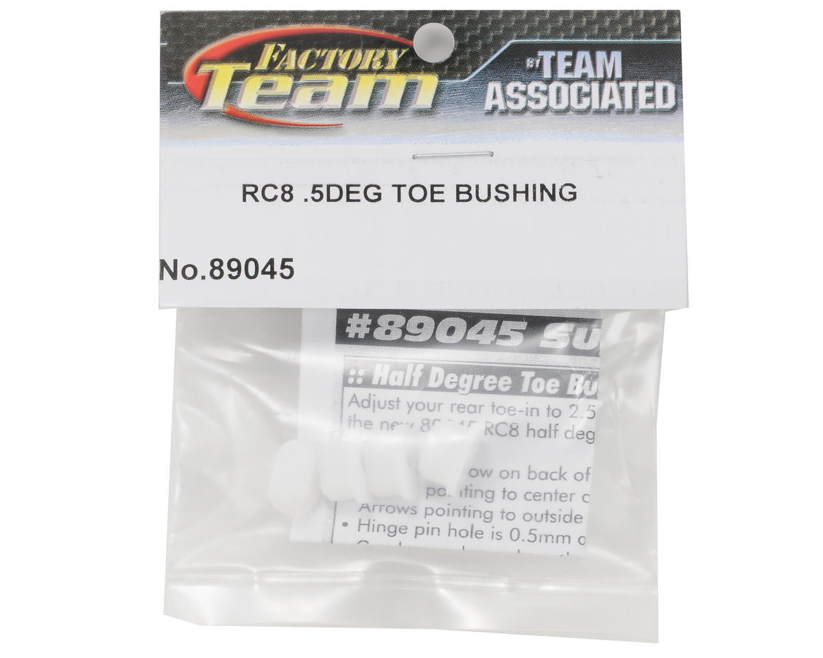 Team Associated .5° Toe-In Hinge Pin Bushing Set (4)