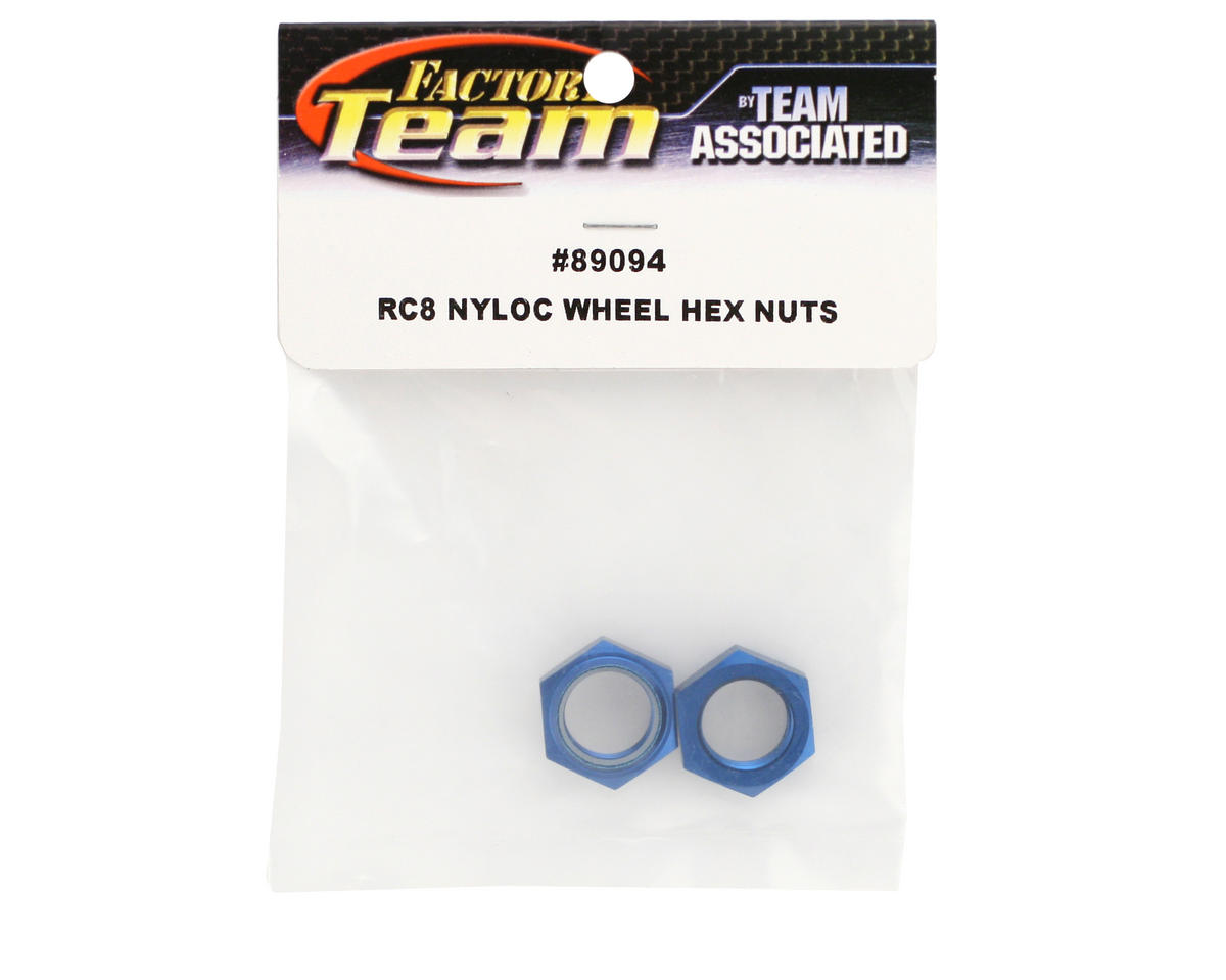 Team Associated Factory Team Nyloc Hex Wheel Nuts (RC8) (2)