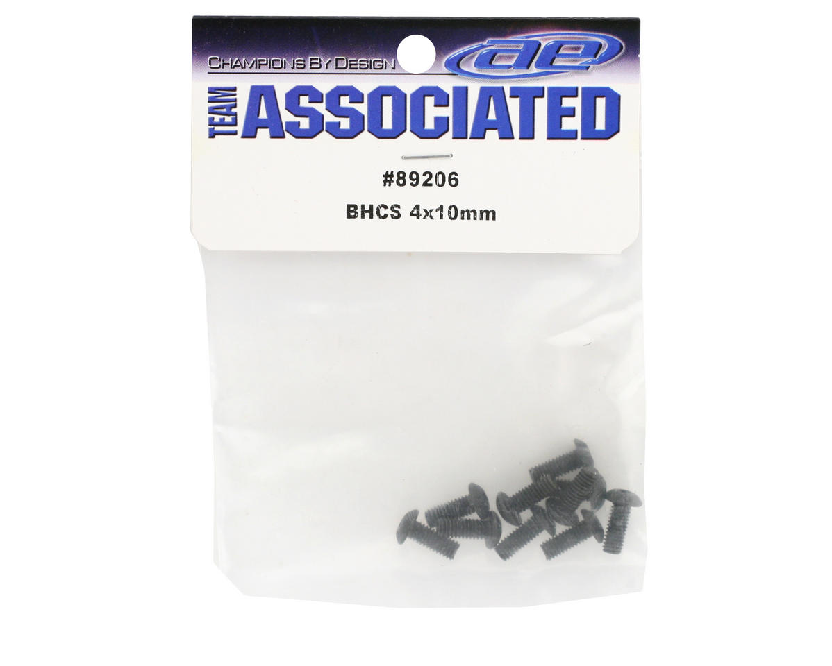 Team Associated 4x10mm BHC Screws (10)