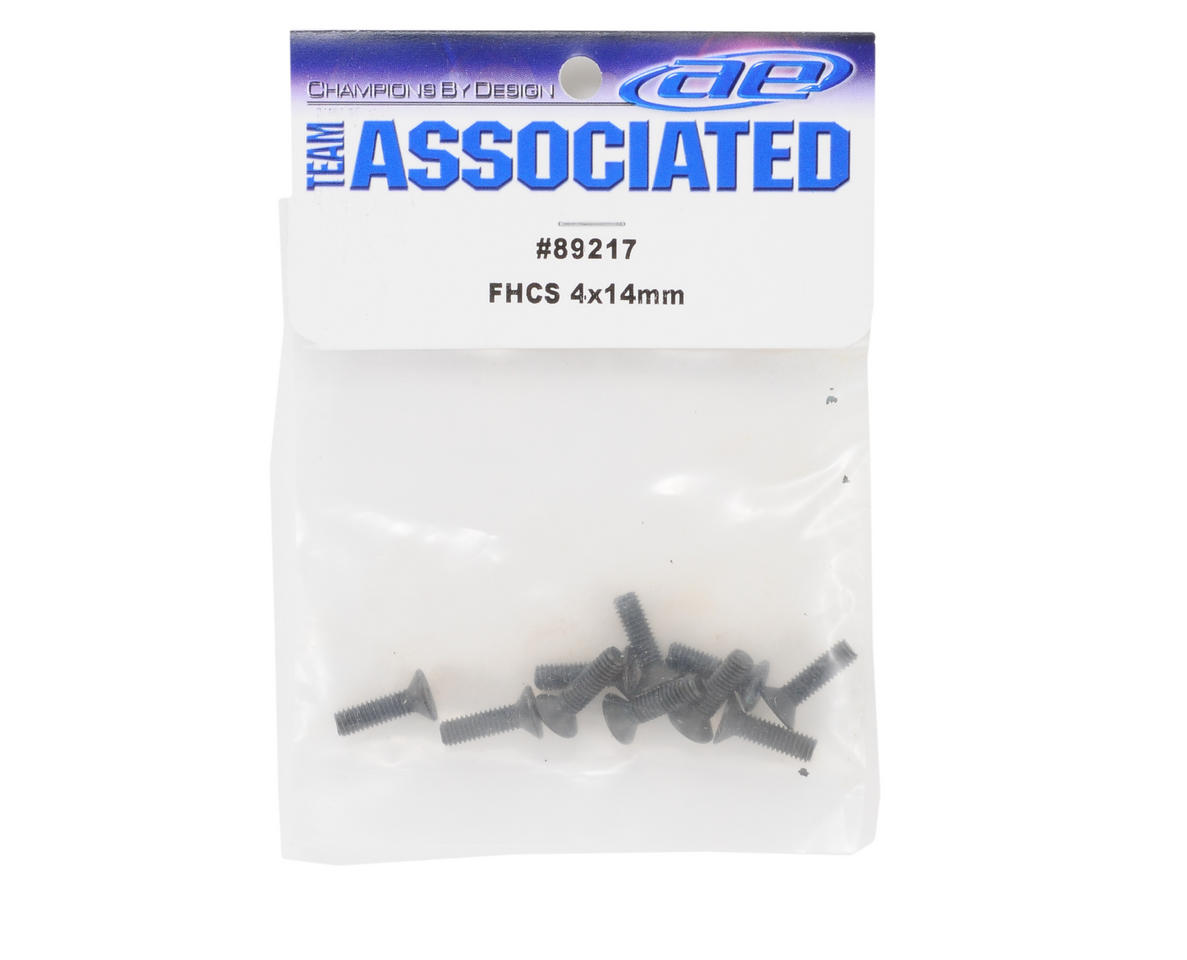 Team Associated 4x14mm Flat Head Hex Screw (10)