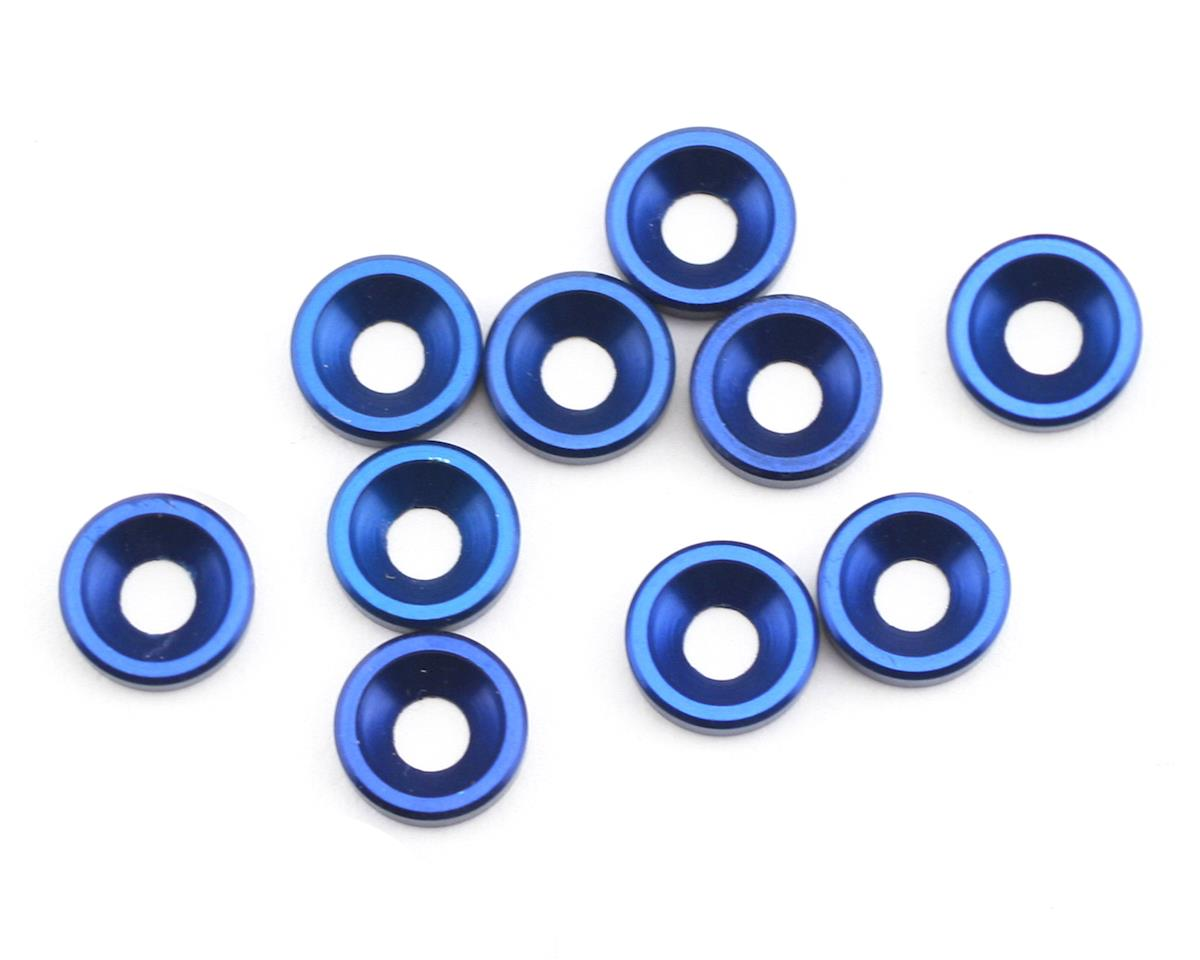 Blue Countersunk Washer (10) by Team Associated