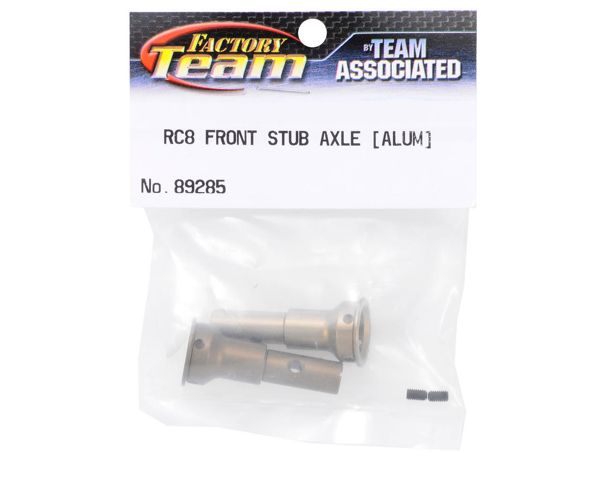 Team Associated Factory Team Aluminum Front Stub Axle (2) (RC8)