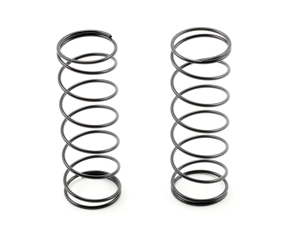 Team Associated 16x29mm Front Shock Spring Set (Black - 3.3 lb) (2)