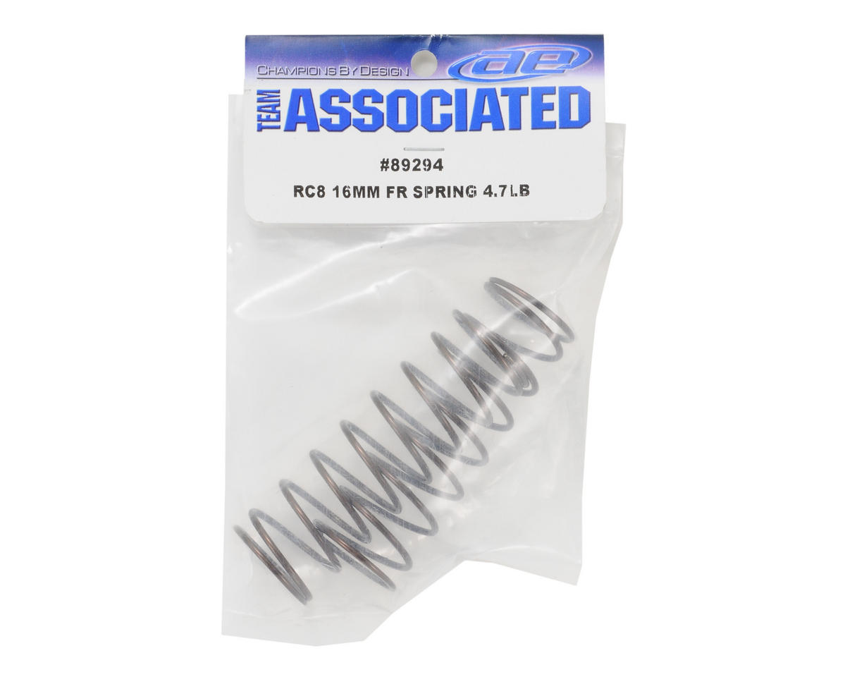 Team Associated 16mm RC8 Big Bore Front Spring Set (2) (4.7 lb)