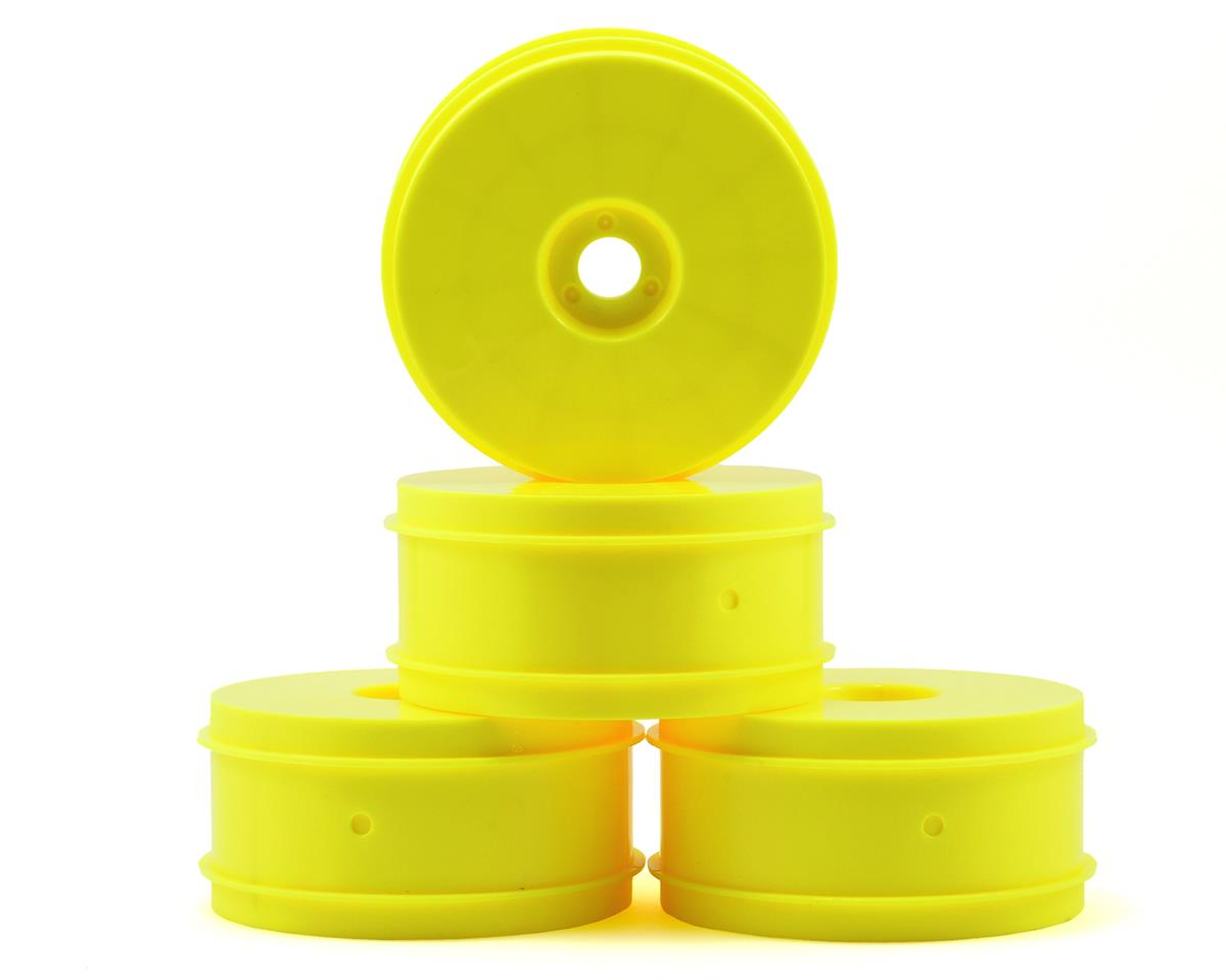 Team Associated RC8B3.1e 83mm 1/8 Buggy Wheels (4) (Yellow)
