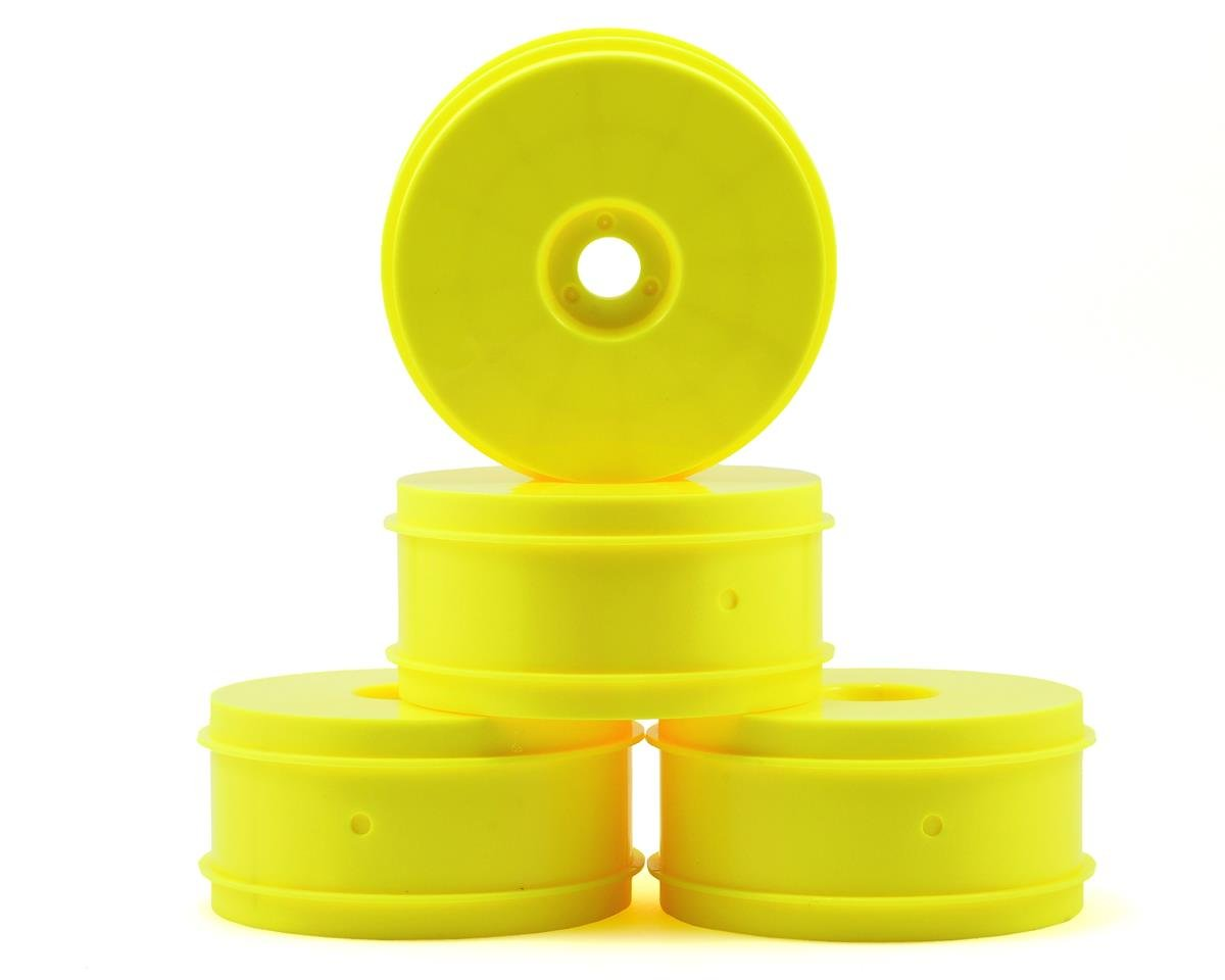 Team Associated 83mm 1/8 Buggy Wheels (4) (Yellow)