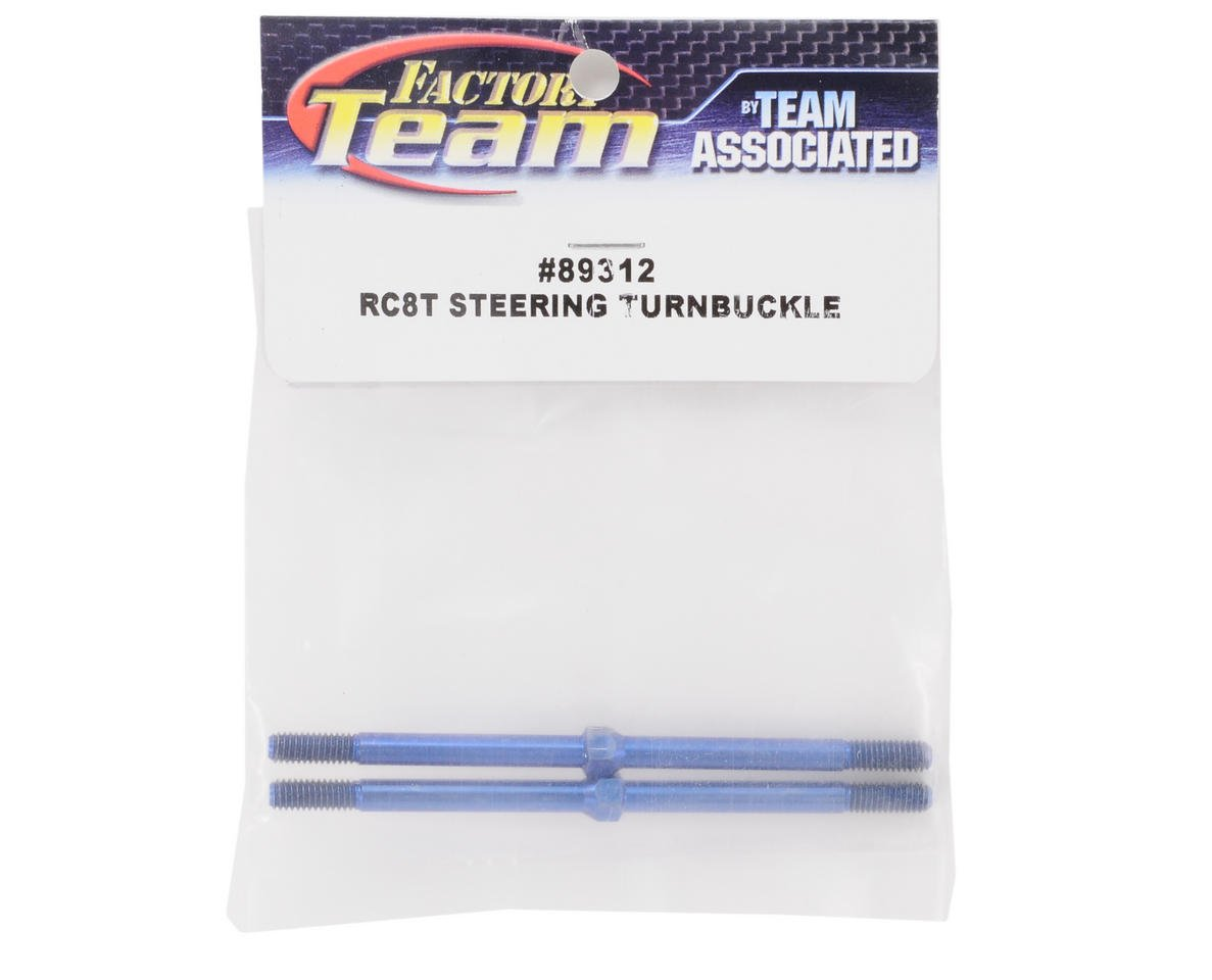 Team Associated Titanium Steering Turnbuckle (2) (Blue)