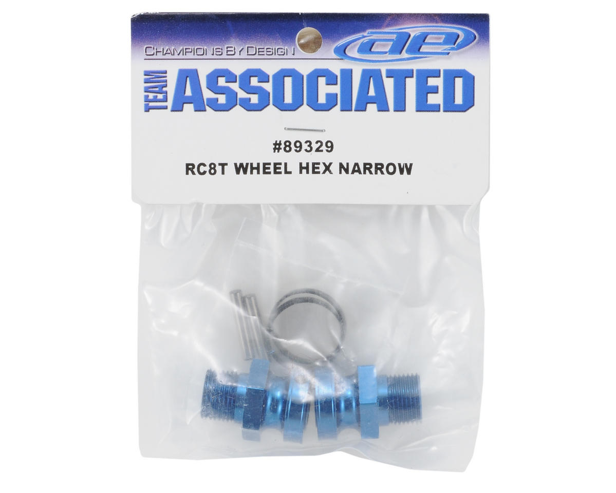 Team Associated Factory Team Narrow Front Aluminum Wheel Hex (2) (RC8T)