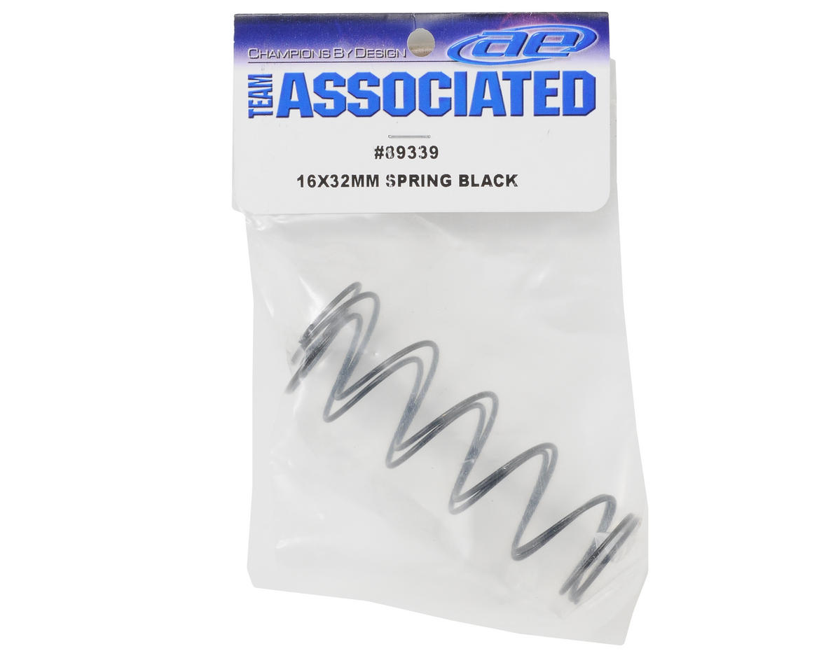 Team Associated 16x32mm Front Spring Set (Black) (2)