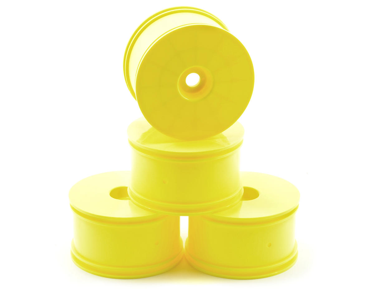 Team Associated LPR Truggy Wheel (4) (Yellow)