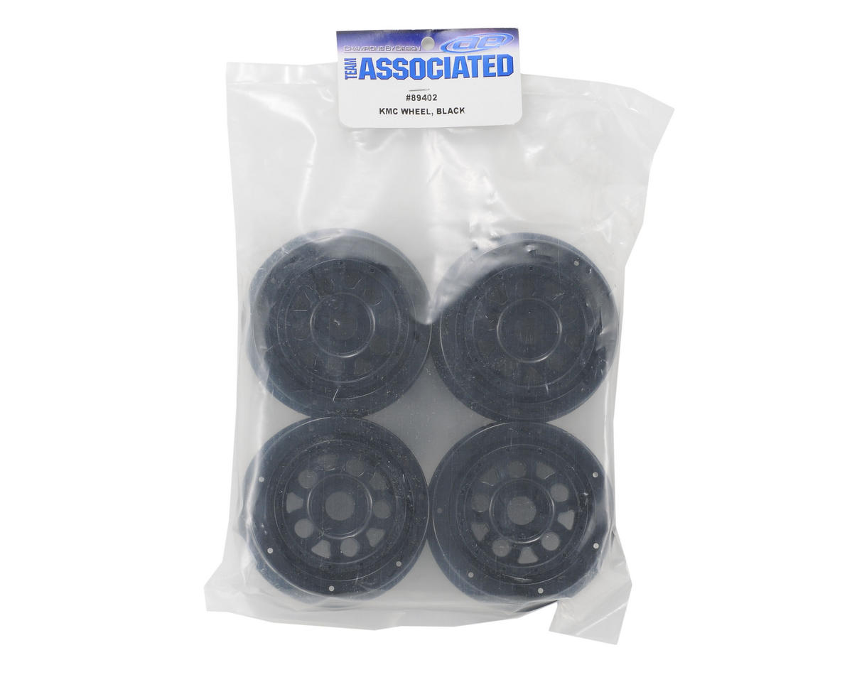 Team Associated SC8 KMC 17mm Wheel (Black) (4)
