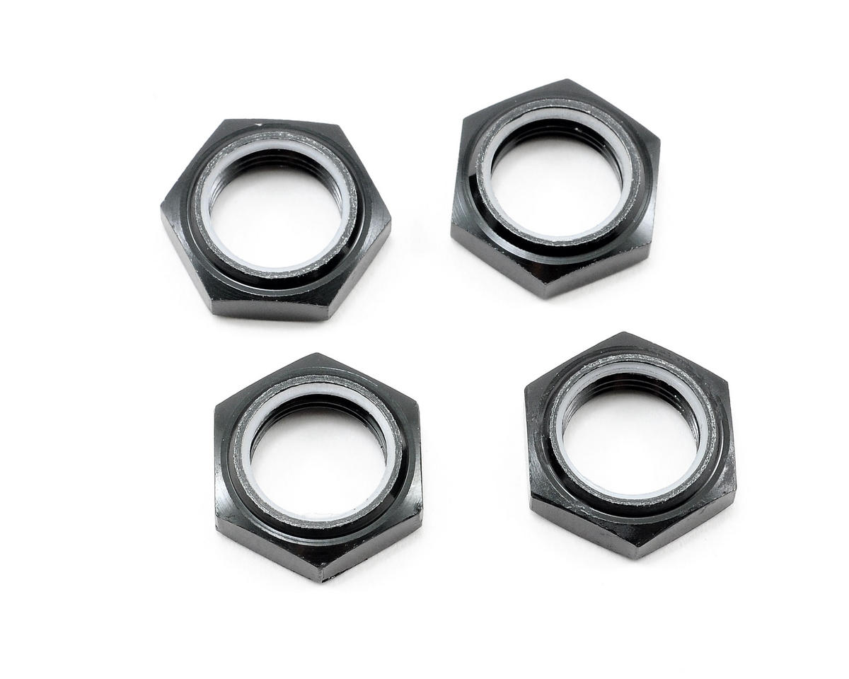 Team Associated Nyloc Wheel Nut (Black) (4)