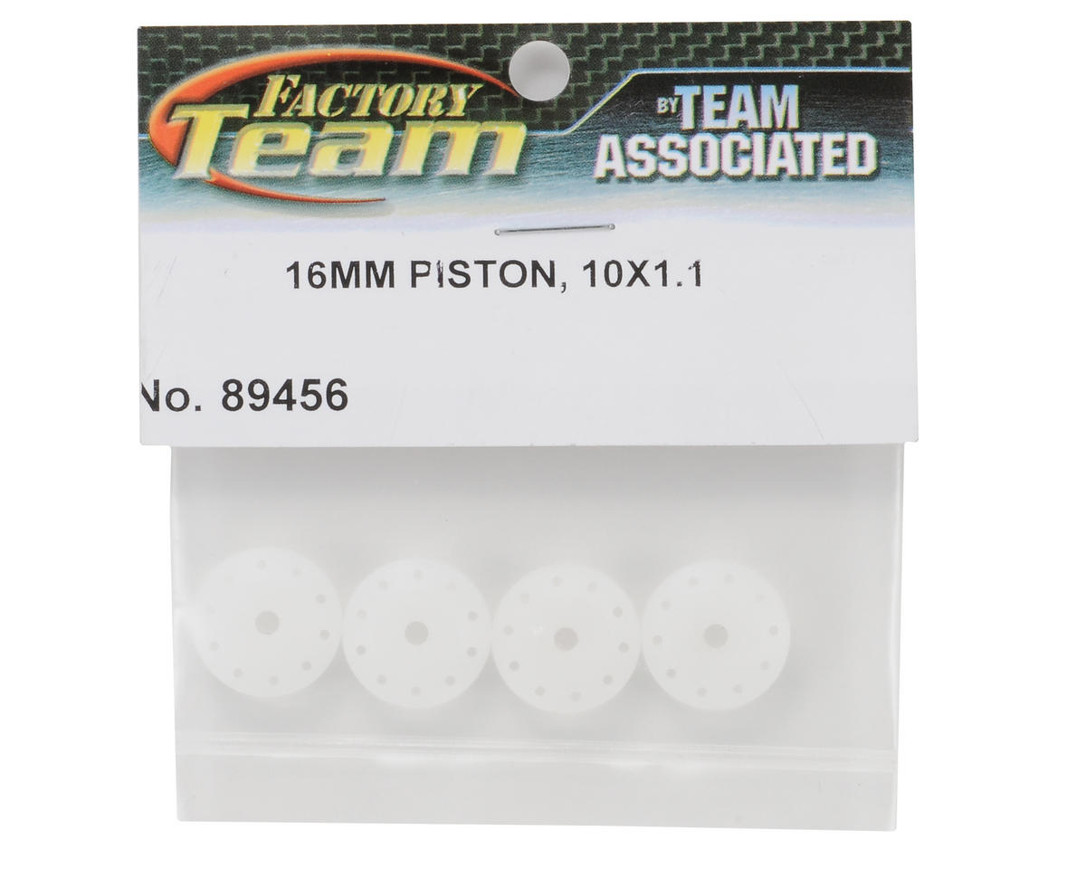 Team Associated 16mm Tapered Shock Piston Set (4) (10x1.1mm)