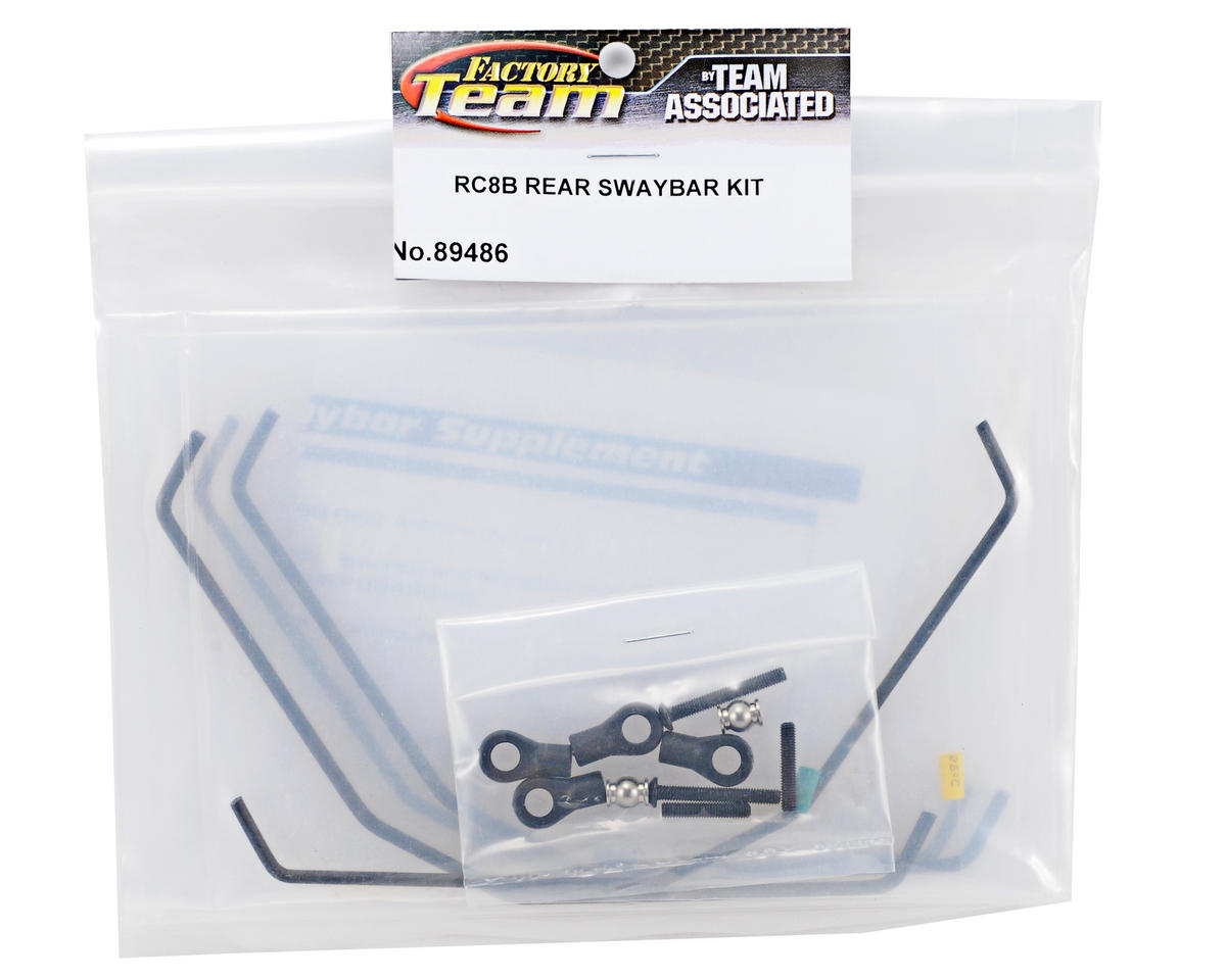 Rear Swaybar Kit w/Hardware (4) by Team Associated