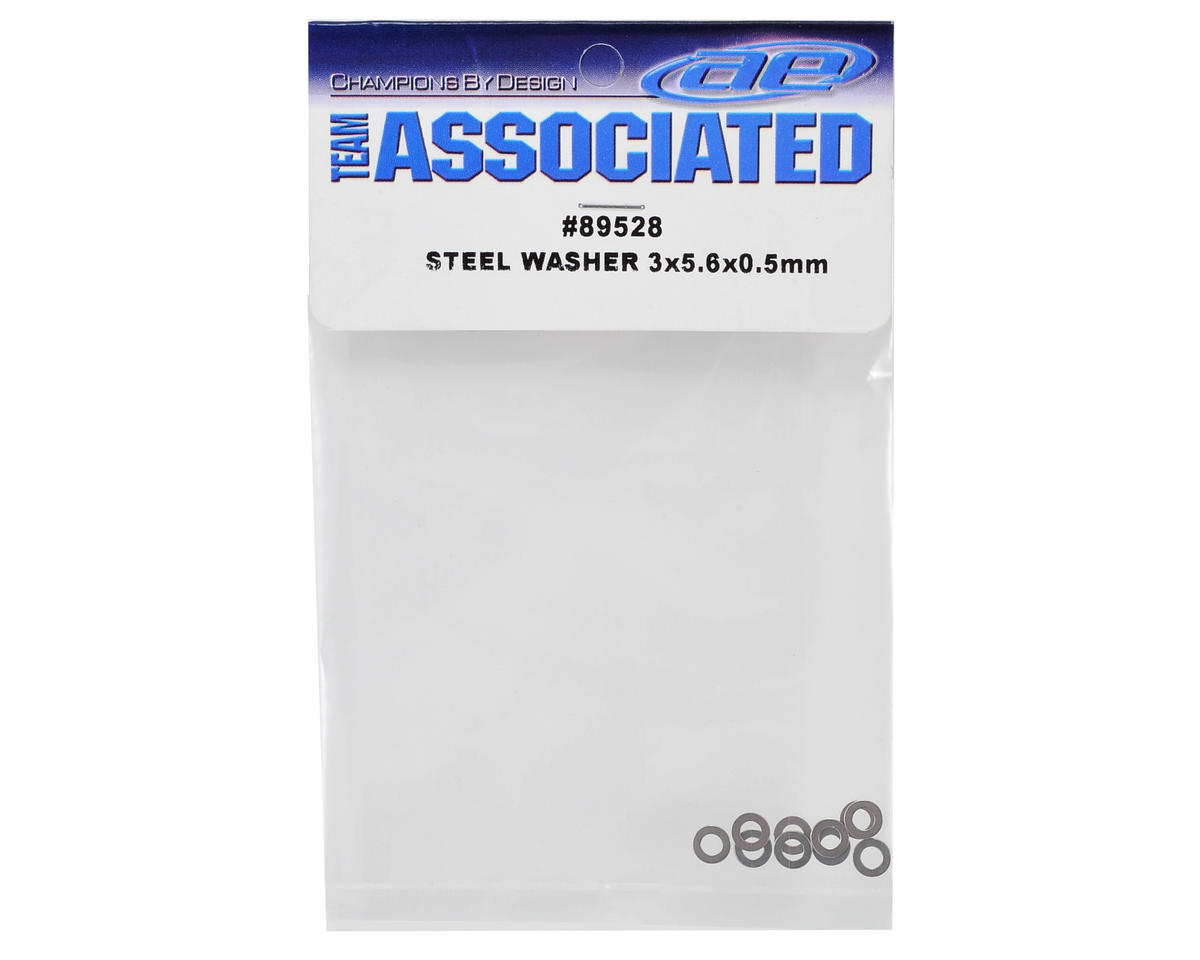 Team Associated Steel 3x5.6x0.5mm Washer (10)