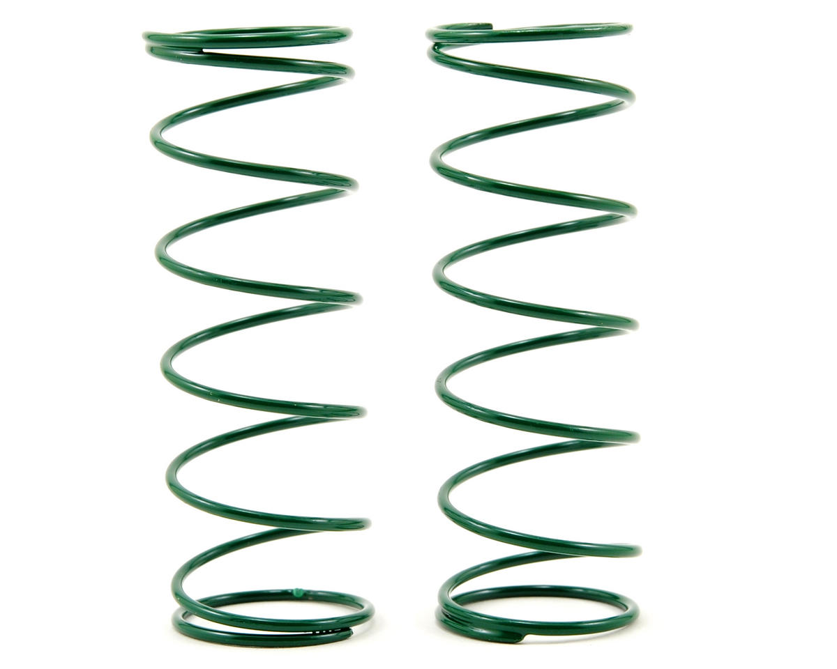 Front Shock Spring Set (Green - 4.0) (2) (RC8.2) by Team Associated