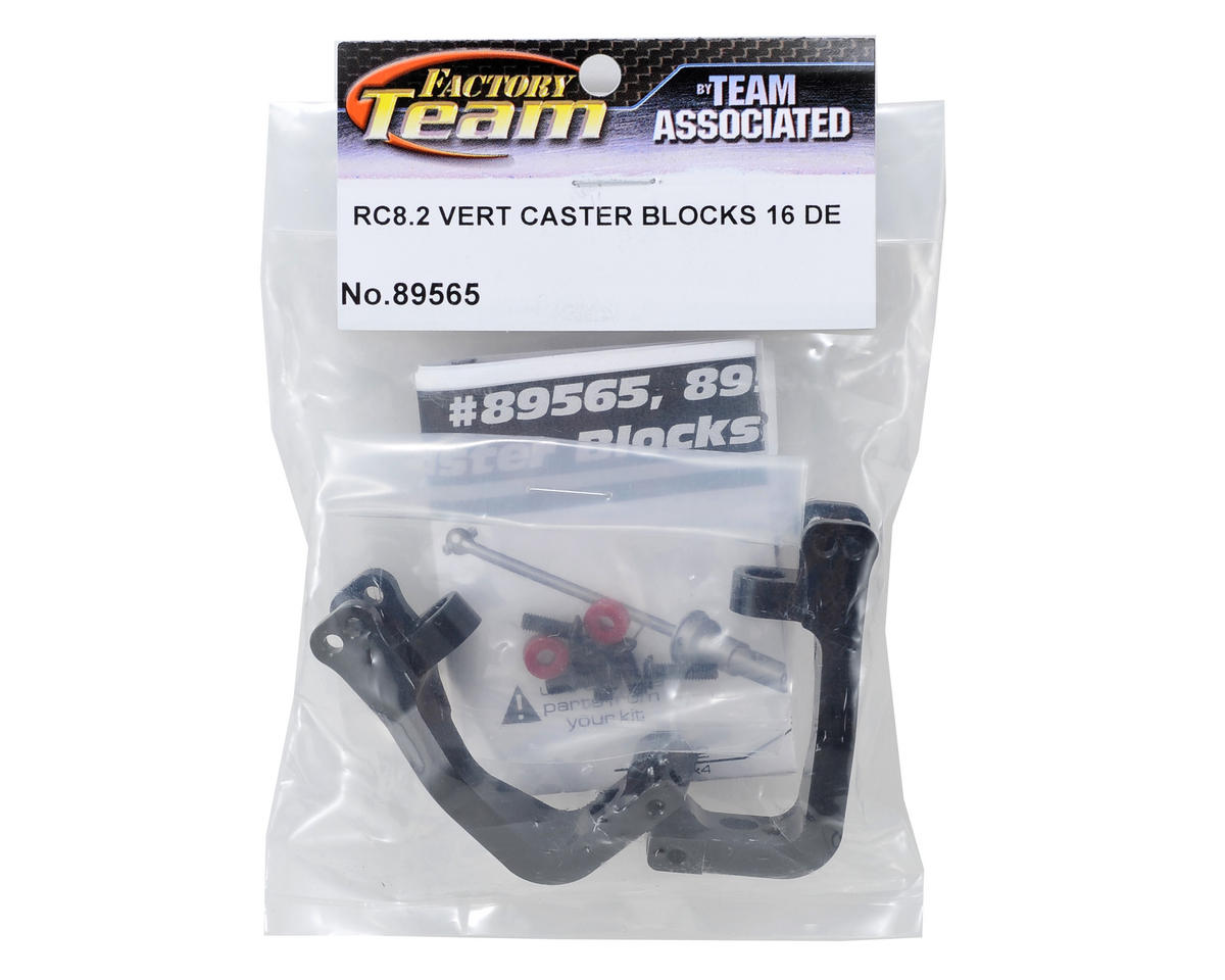 Team Associated Vertical 16° Caster Block & Hardware Set (2)