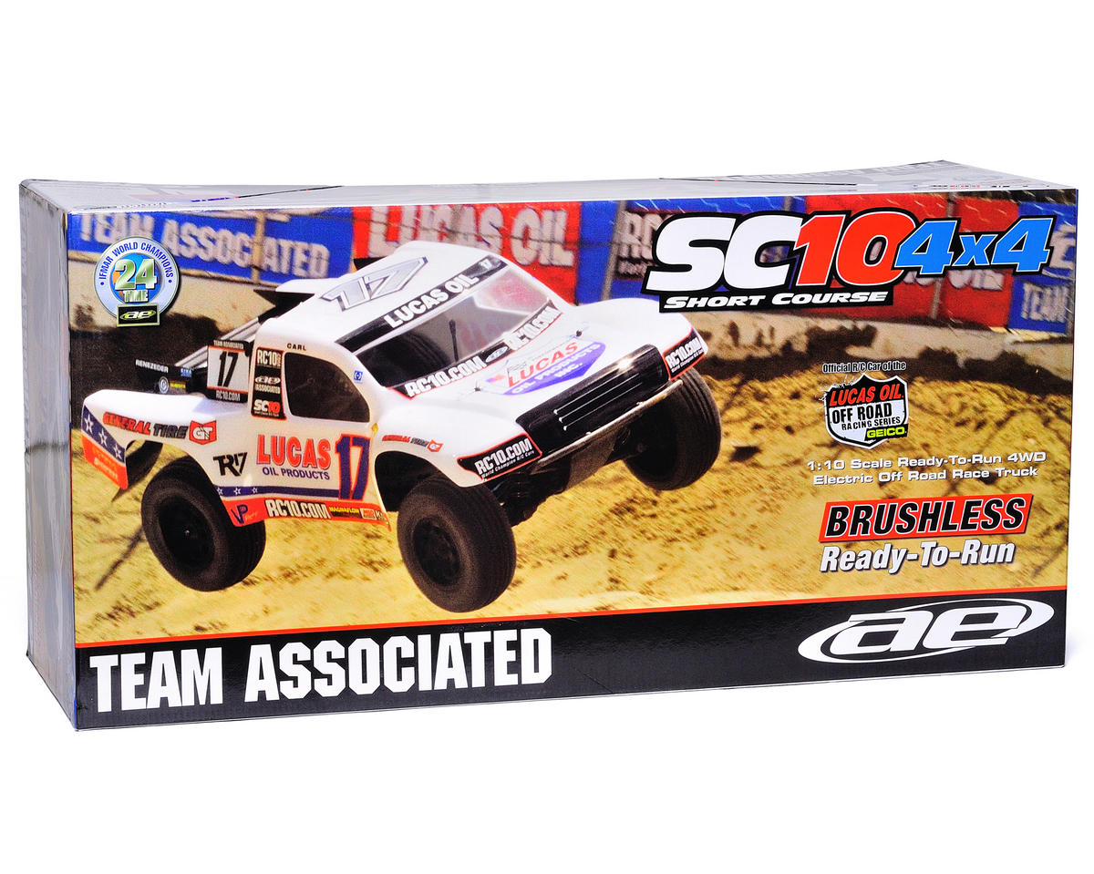 Team Associated SC10 4x4 RTR Brushless 4WD Short Course Truck w/2.4GHz (Lucas Oil)