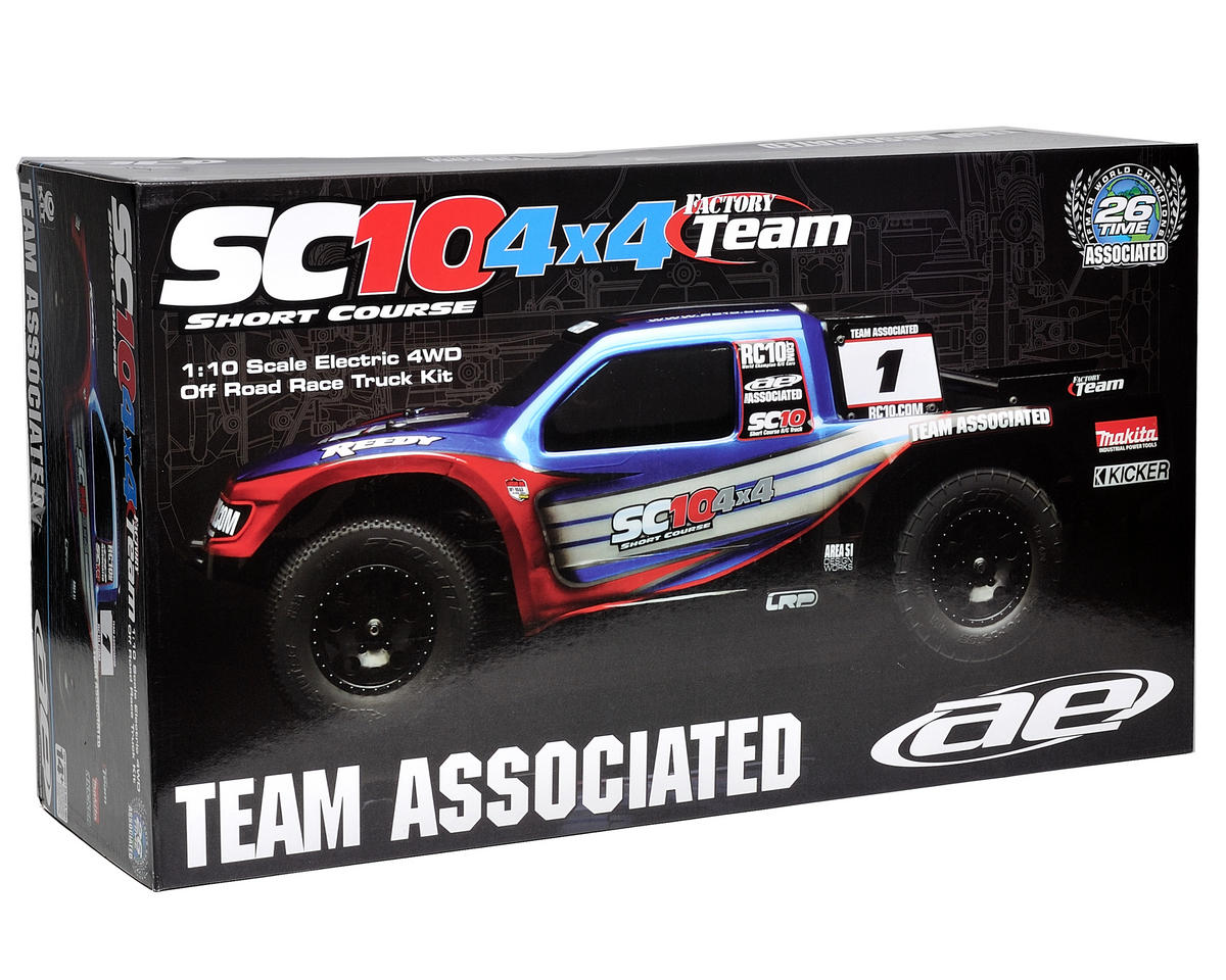 Team Associated SC10 4x4 Factory Team 1/10 Scale Electric 4WD Short Course Race Truck Kit