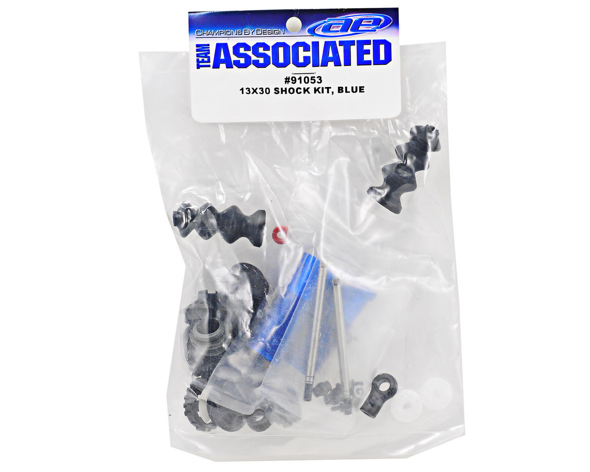 Team Associated 13mm Rear Shock Kit (Blue)