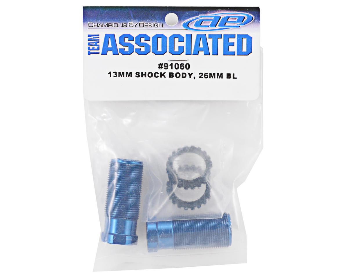 13mm Front Shock Body Set (Blue) (2) by Team Associated