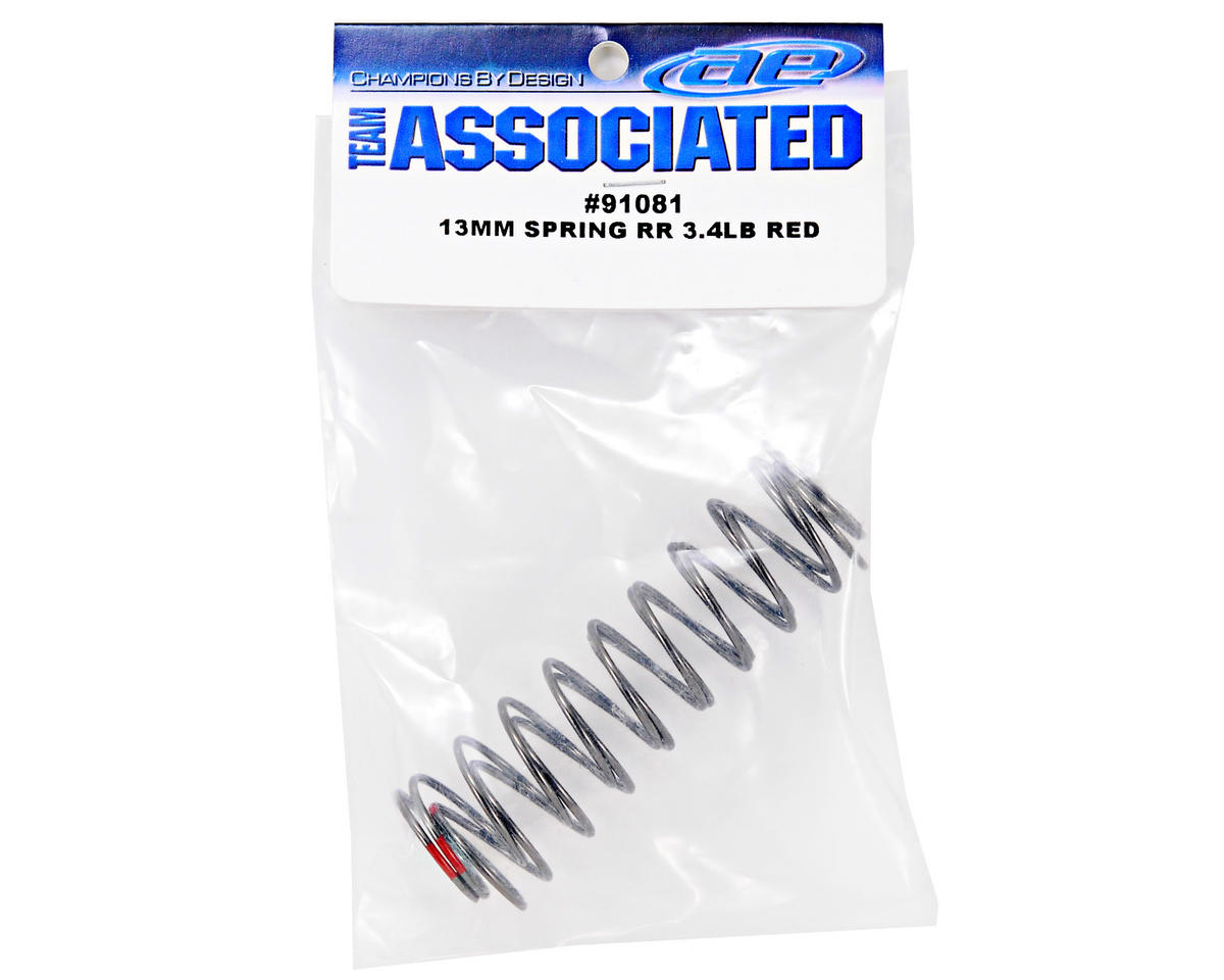 Team Associated 13mm Rear Shock Spring (Red - 3.4lb) (2)