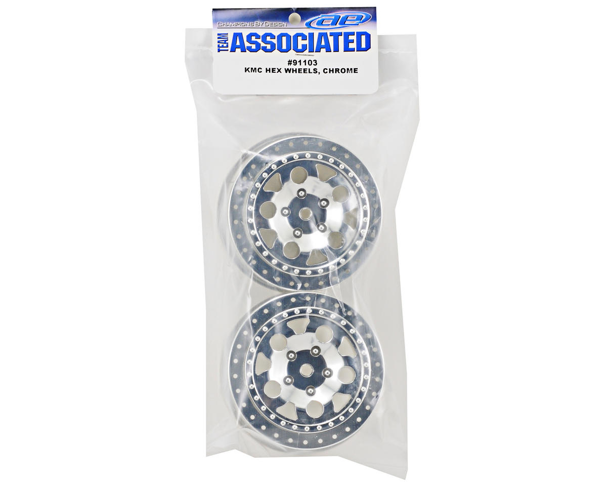 Team Associated 12mm Hex KMC Short Course Wheels (Chrome) (2) (SC5M)
