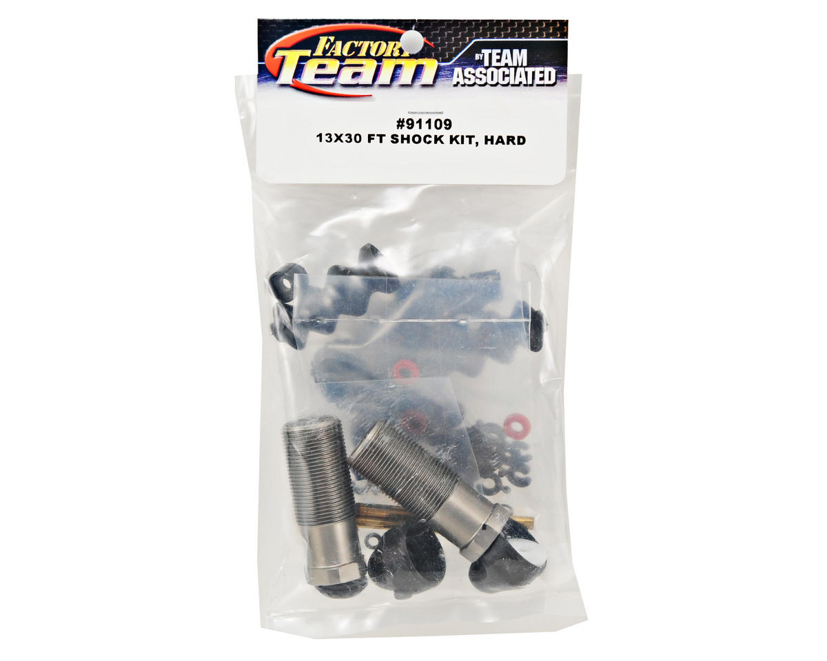 Factory Team 13x30mm Hard Anodized Rear Shock Kit by Team Associated
