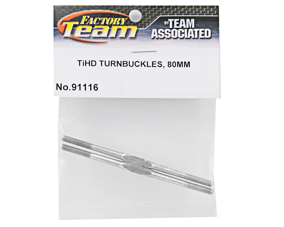 Team Associated Factory Team 80mm Heavy Duty Titanium Turnbuckle Set (2)