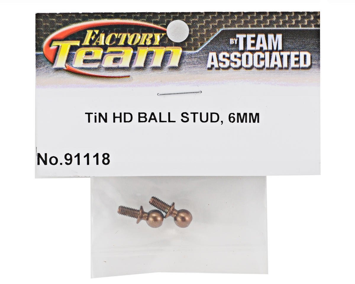 Team Associated Factory Team 6mm Heavy Duty Ti-Nitride Ballstud Set (2)