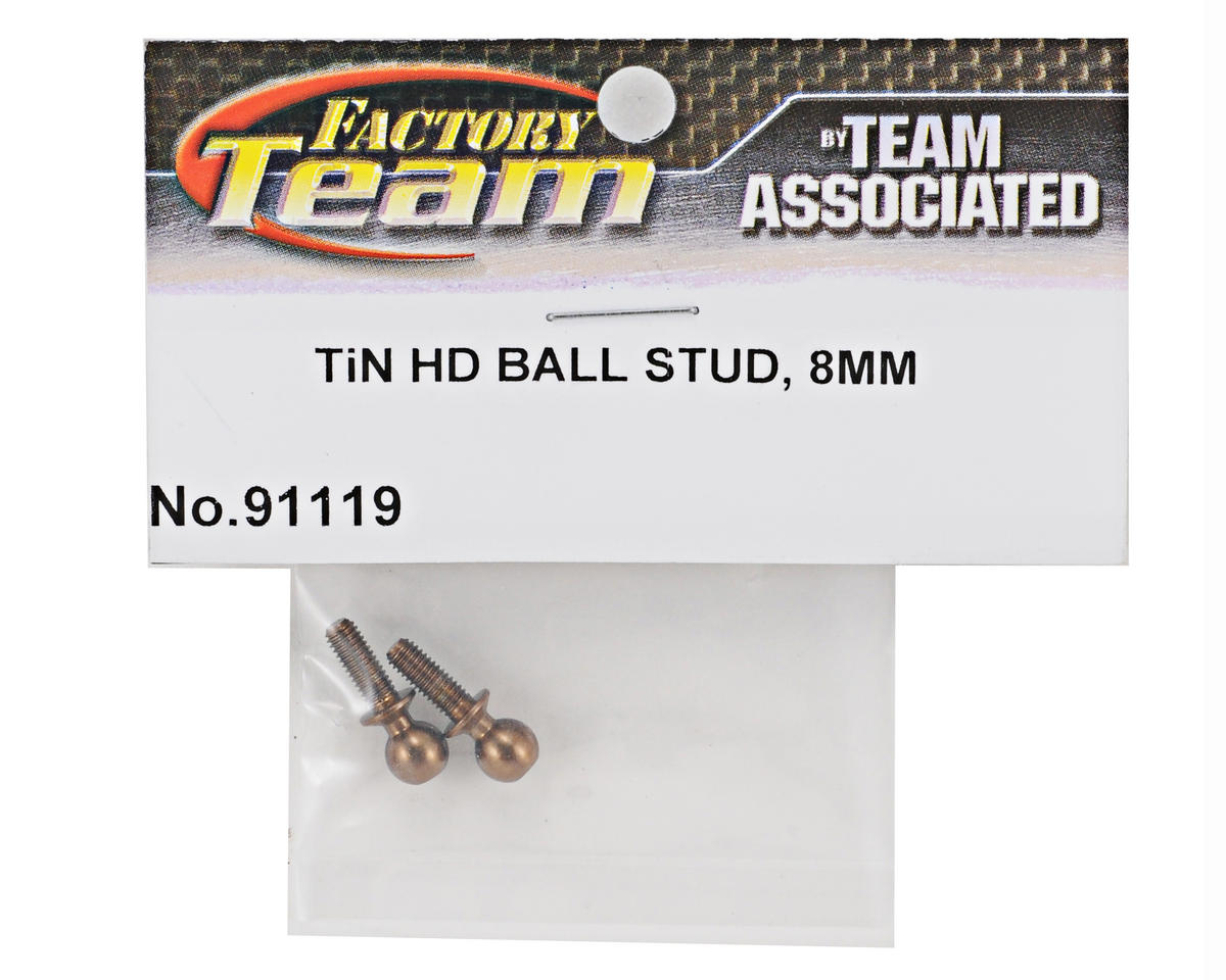 Team Associated Factory Team 8mm Heavy Duty Ti-Nitride Ballstud Set (2)