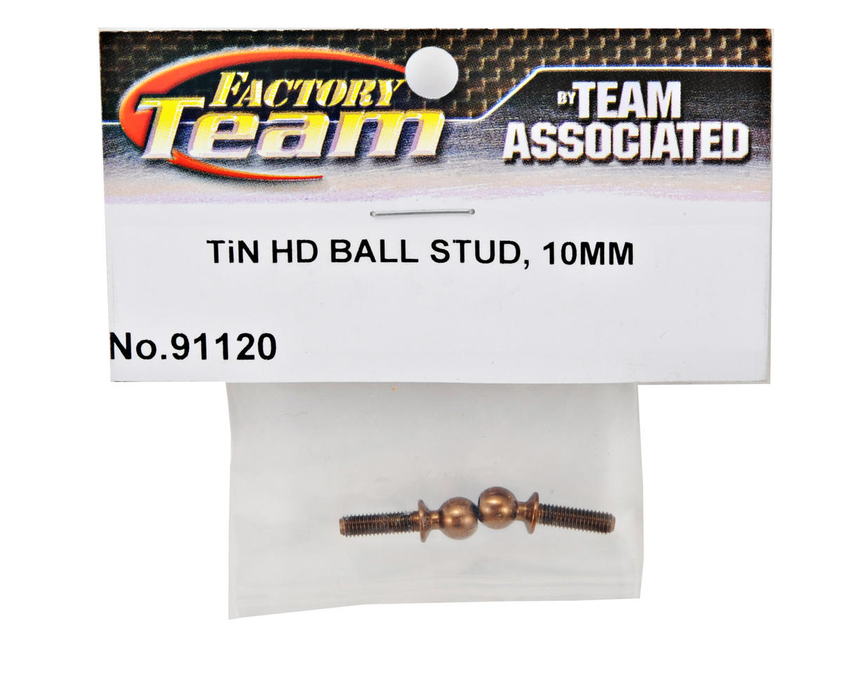 Factory Team 10mm Ti-Nitride Heavy Duty Ballstud Set (2) by Team Associated