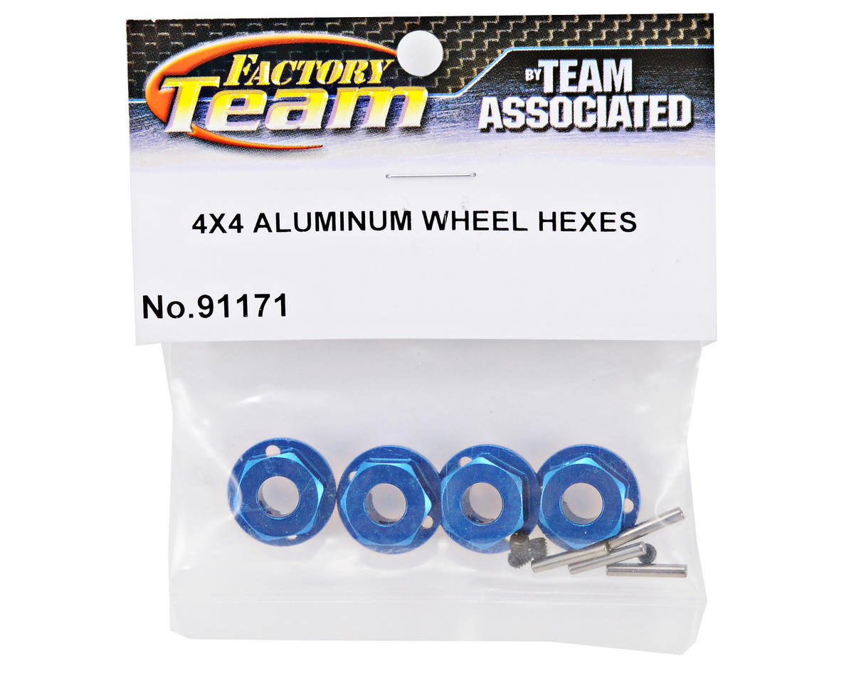 Team Associated Factory Team 4x4 Aluminum Wheel Hexes