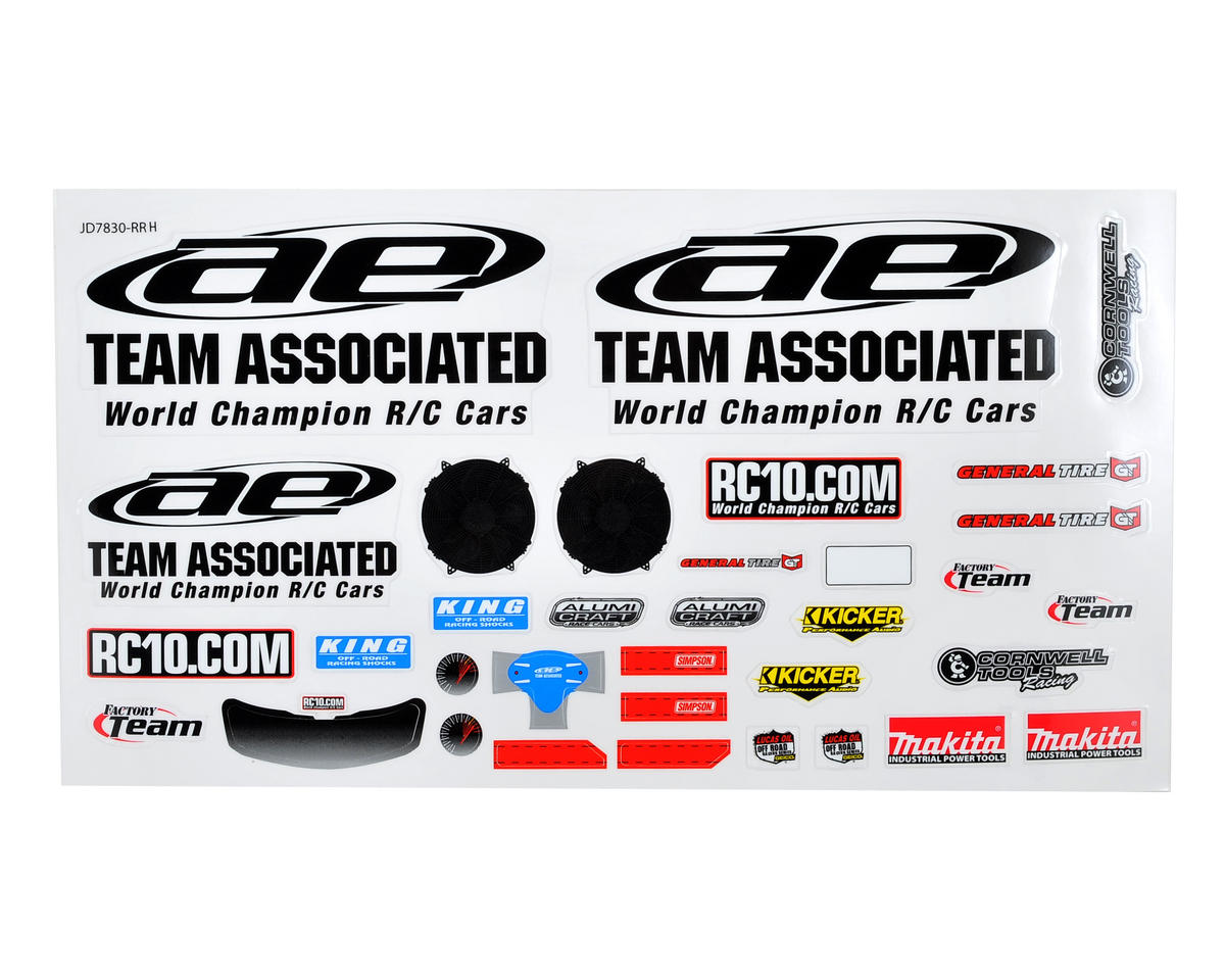 Team Associated SC10B Team AE Body Decal Set