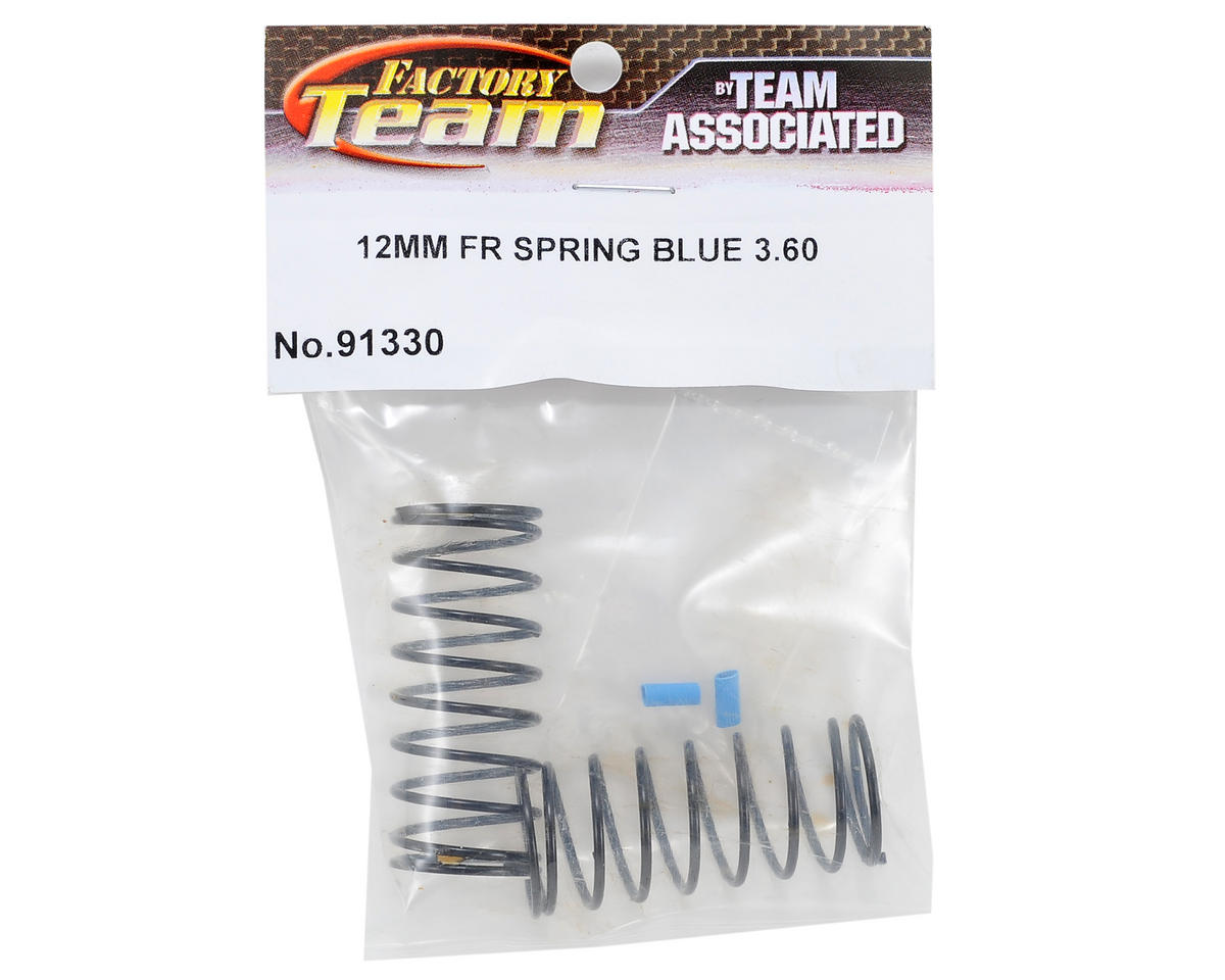 Team Associated 12mm Front Shock Spring (Blue/3.60lbs)