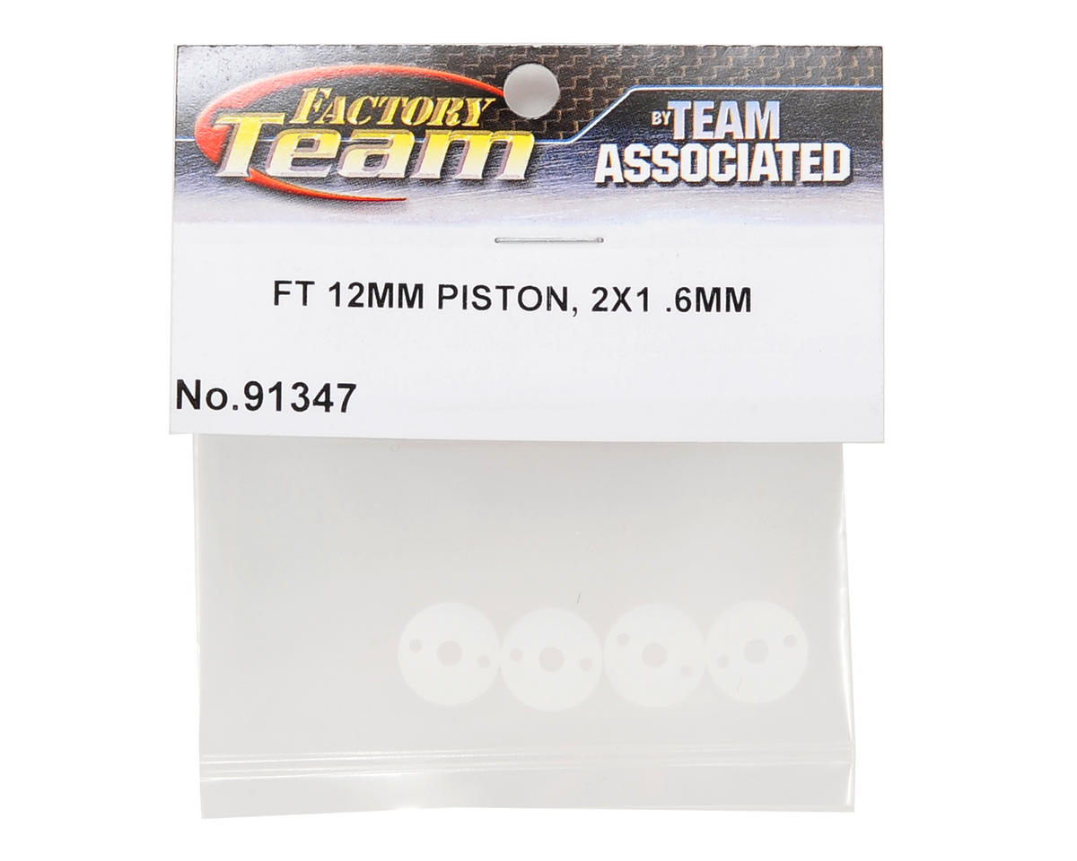 Team Associated Factory Team 12mm Big Bore Tapered Shock Piston (2x1.6mm) (4)