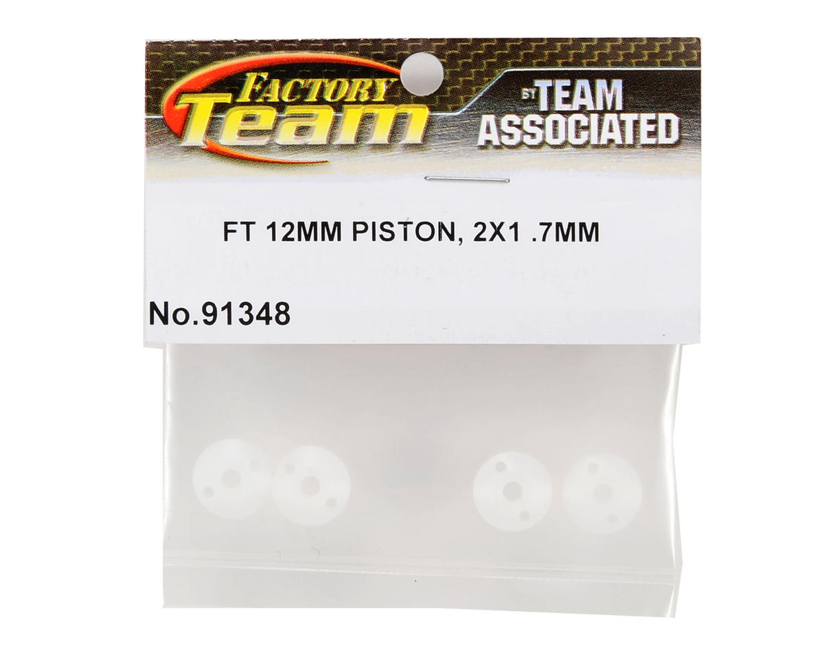 Factory Team 12mm Big Bore Tapered Shock Piston (2x1.7mm) (4) by Team Associated