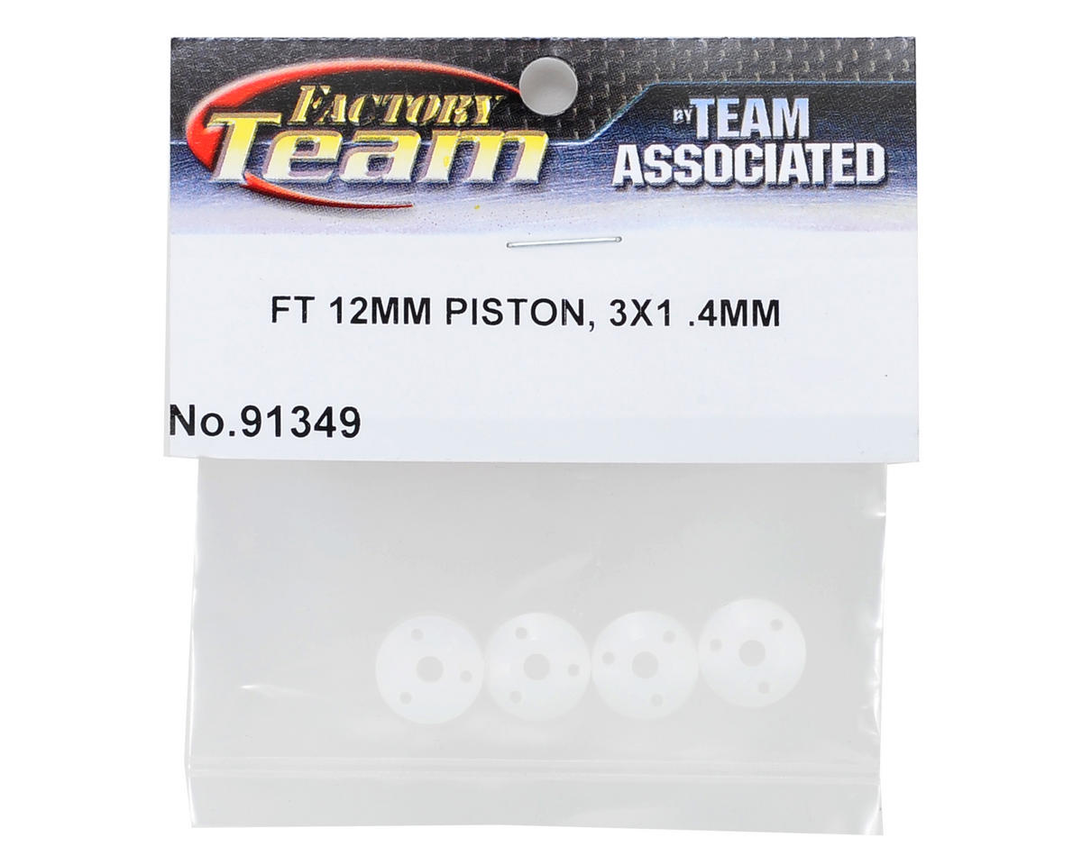 Factory Team 12mm Big Bore Tapered Shock Piston (3x1.4mm) (4) by Team Associated