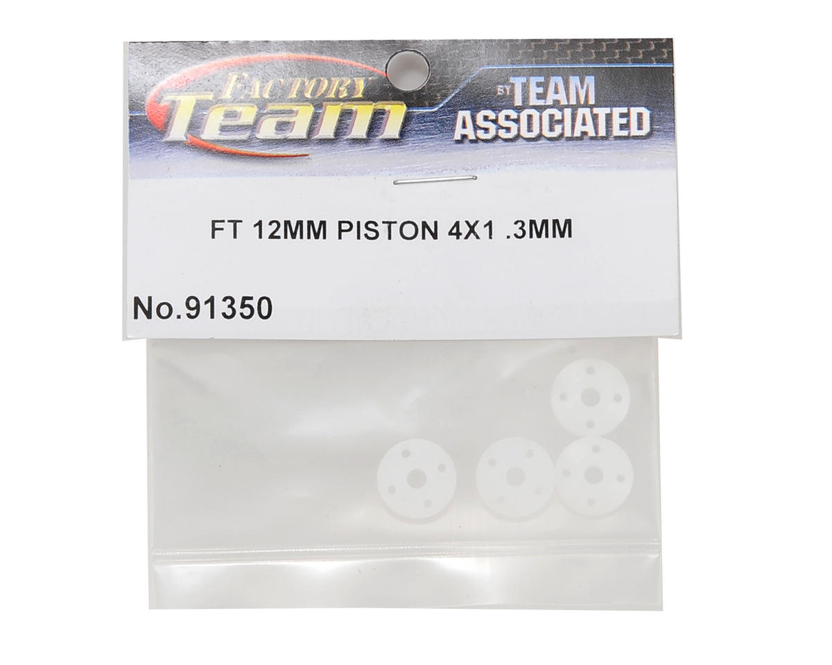 Team Associated Factory Team 12mm Big Bore Tapered Shock Piston (4x1.3mm) (4)