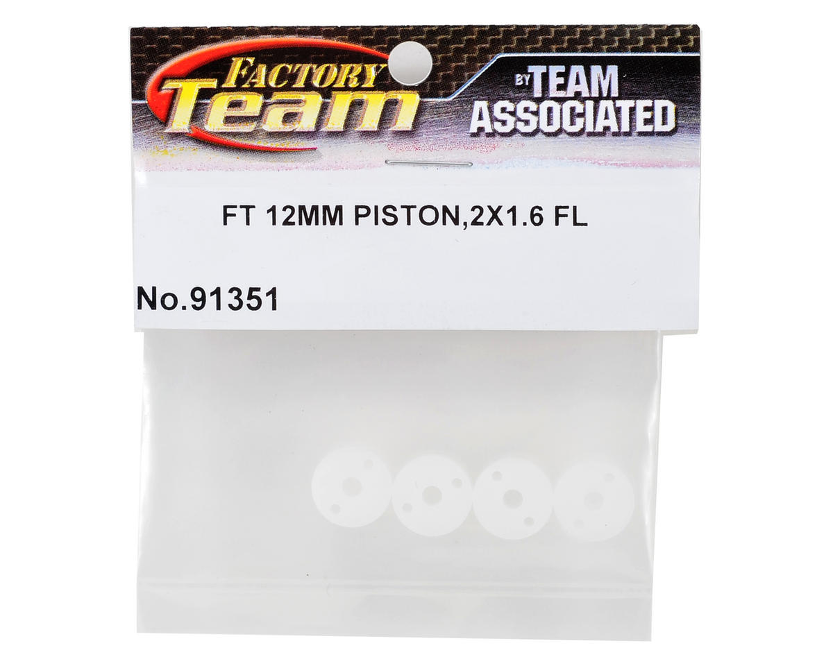 Team Associated Factory Team 12mm Big Bore Flat Shock Piston Set (2x1.6mm) (4)