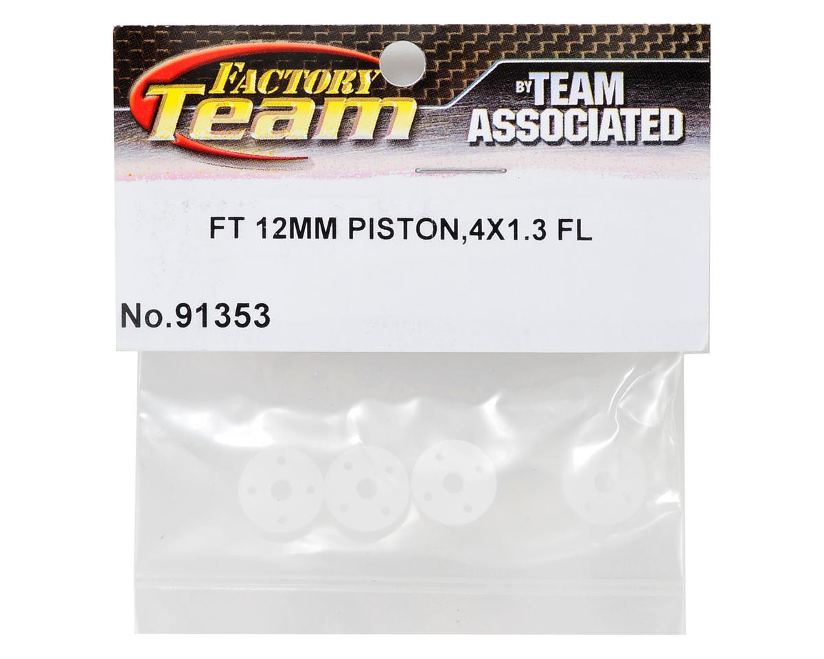 Factory Team 12mm Big Bore Flat Shock Piston Set (4x1.3mm) (4) by Team Associated