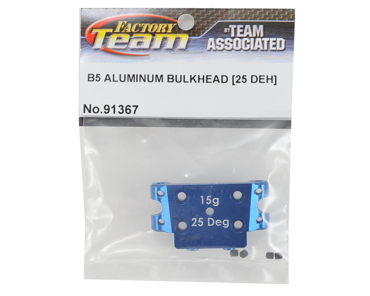 Team Associated Factory Team 25 Degree Aluminum Bulkhead