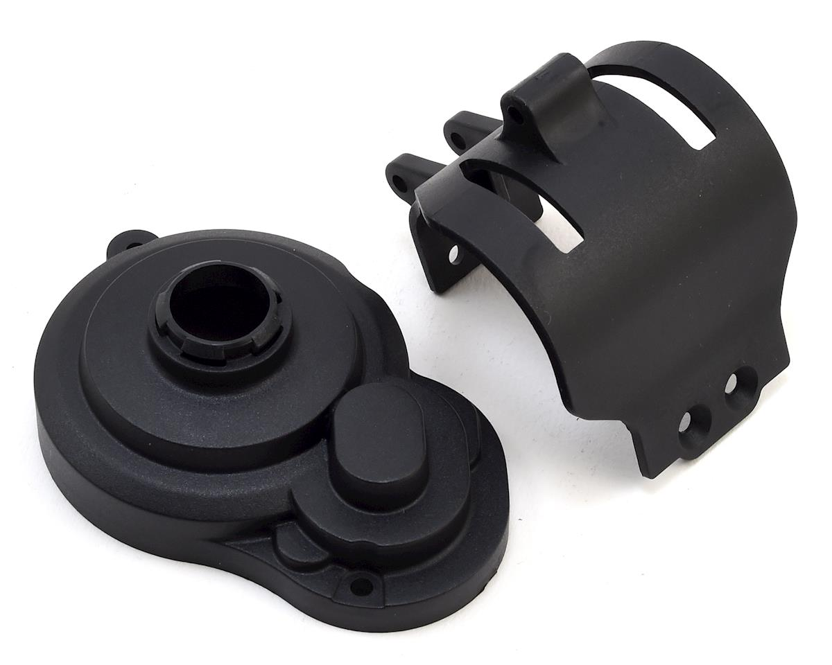 Team Associated Gear Cover & Motor Guard (Black)