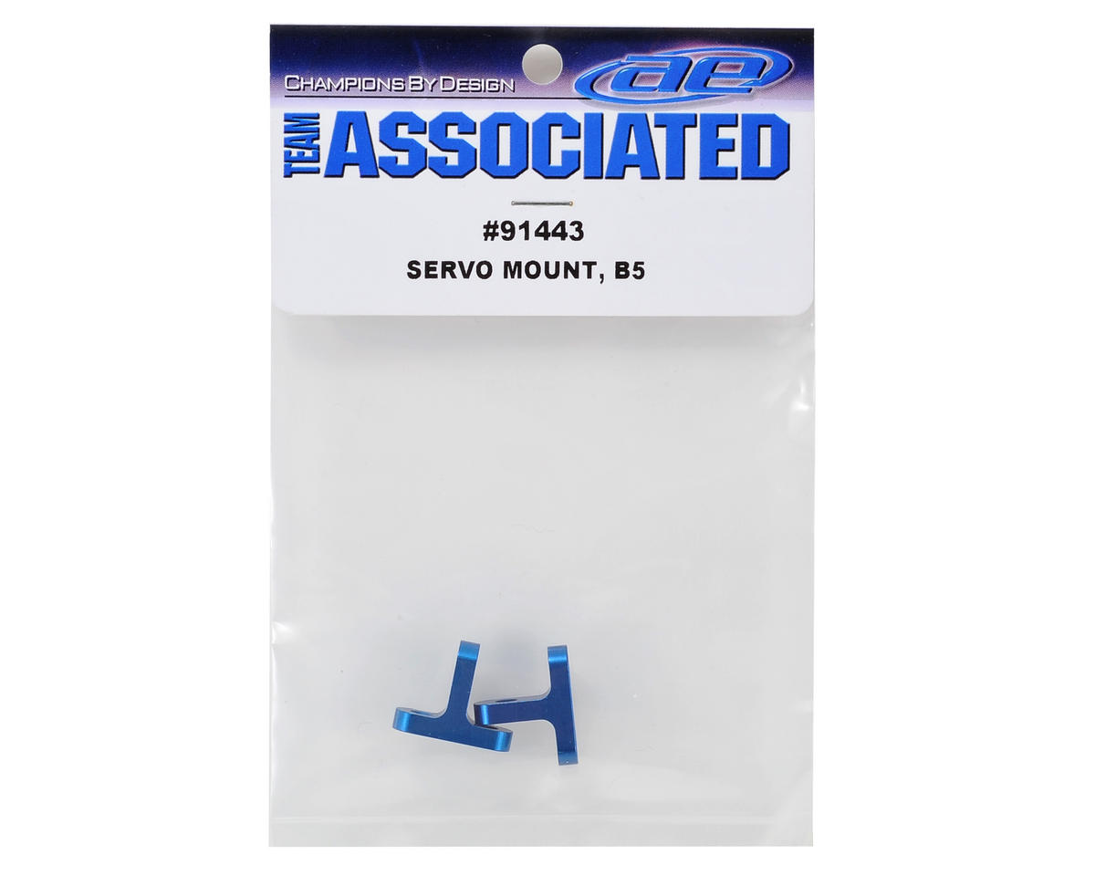 Team Associated Aluminum Servo Mount (Blue) (2)