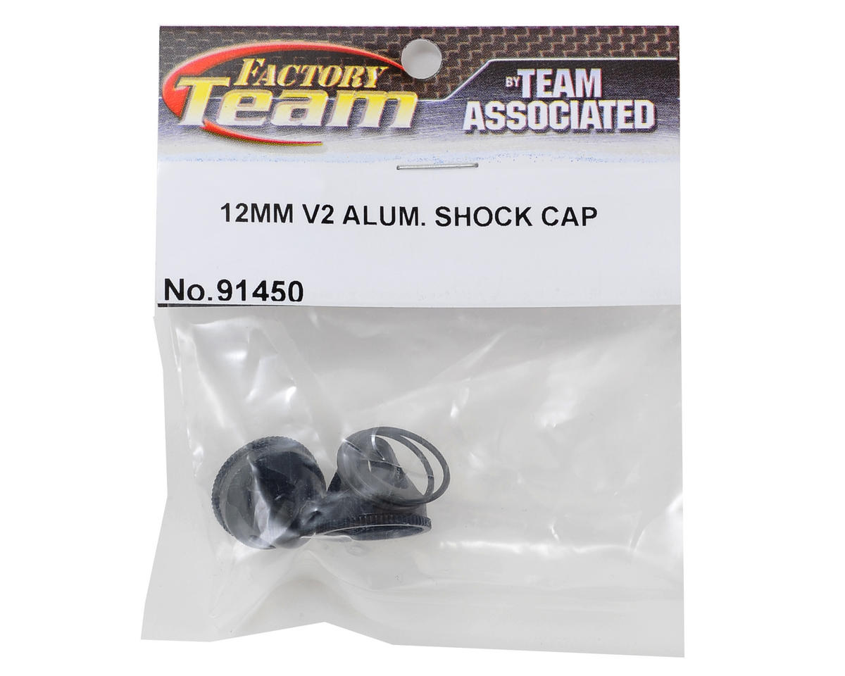 Team Associated Factory Team 12mm V2 Aluminum Shock Cap Set