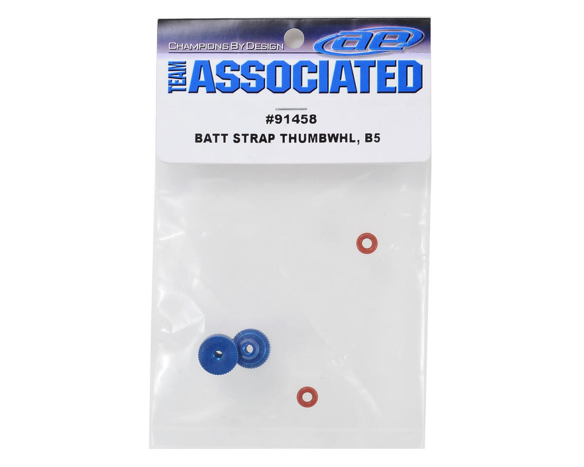 Team Associated Factory Team Battery Strap Thumbwheel Set