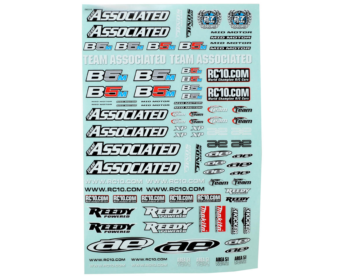 Team Associated B5M Decal Sheet